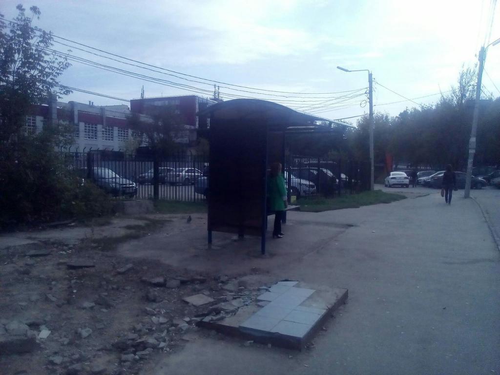 На улице Солнечная в Рязани появился новый остановочный пункт