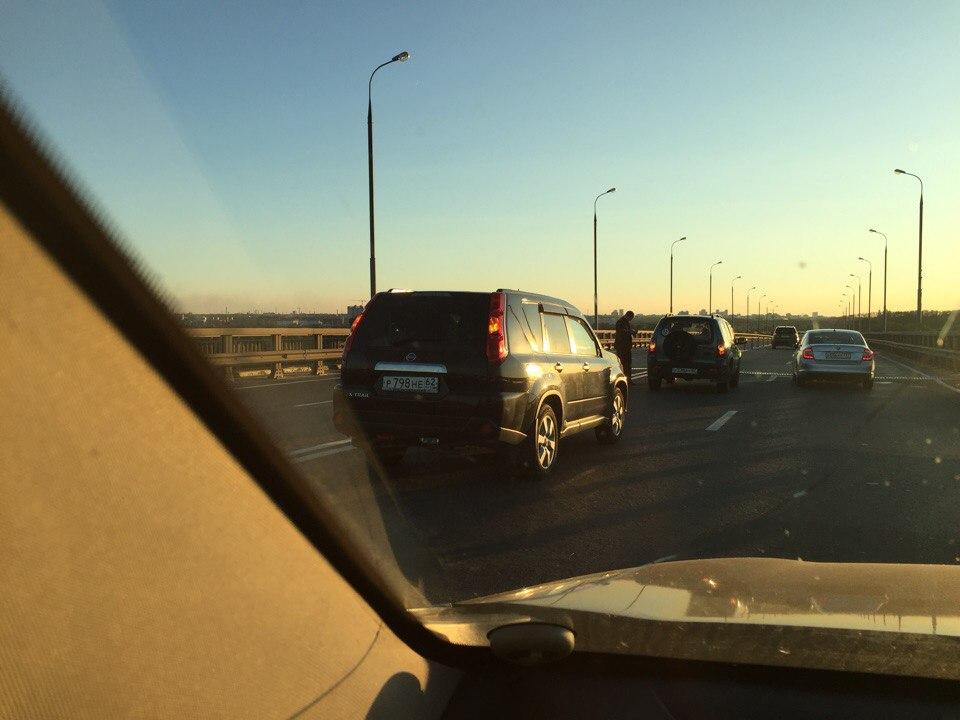 На Солотчинском шоссе снова образовалась многокилометровая пробка