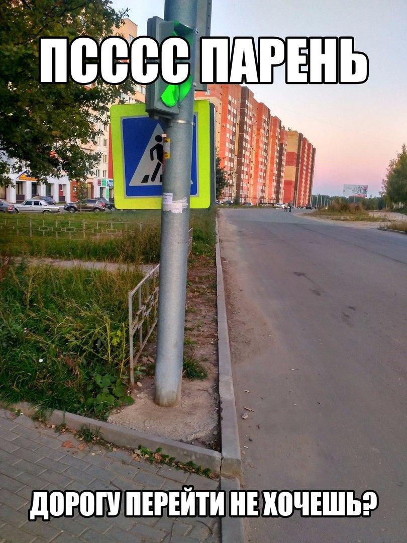 Фото-факт: в Рязани дорожный знак стыдливо прячется на светофором