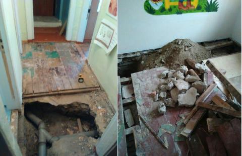 Неделю в детсаду №21 в Бердске ремонтировали канализацию
