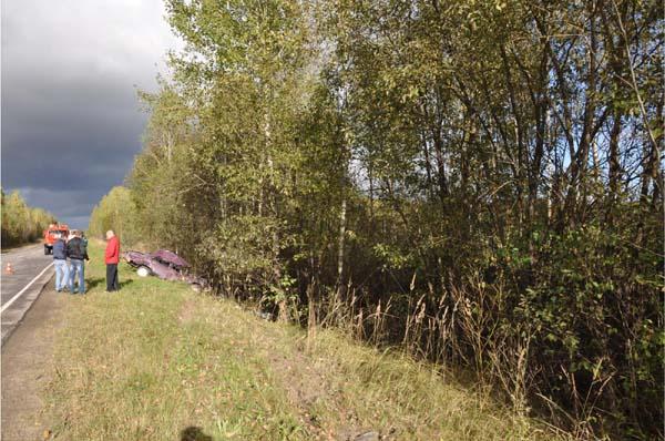 ДТП в Касимовском районе - автомобиль вылетел в кювет и перевернулся, есть погибшие