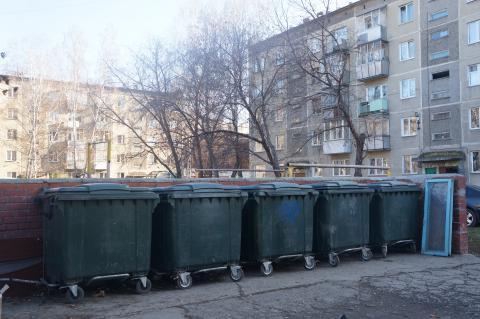 Контейнерные площадки в Бердске переполнены мусором