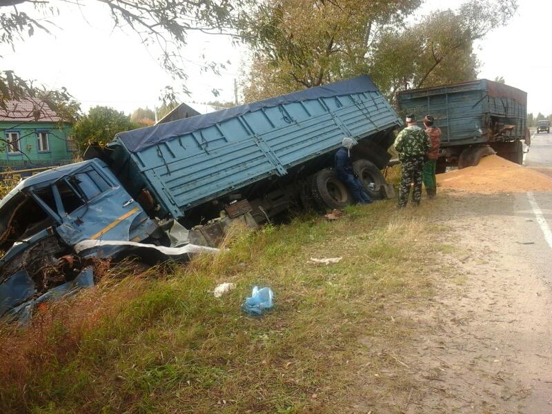 ДТП в Клепиковском районе — Камаз улетел в кювет