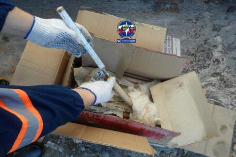 Коробку с ртутными градусниками житель Академгородка нашел в ГСК