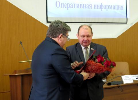Председателю Совета депутатов Бердска Валерию Бадьину исполнилось 65 лет