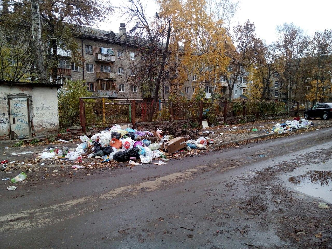 На улице Урицкого мусор «забывают» вывозить