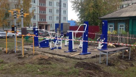 Депутатские спортплощадки устанавливают в Бердске