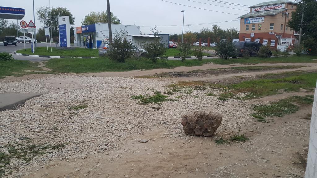 Рязанцев разозлил новый тротуар, ведущий в тупик