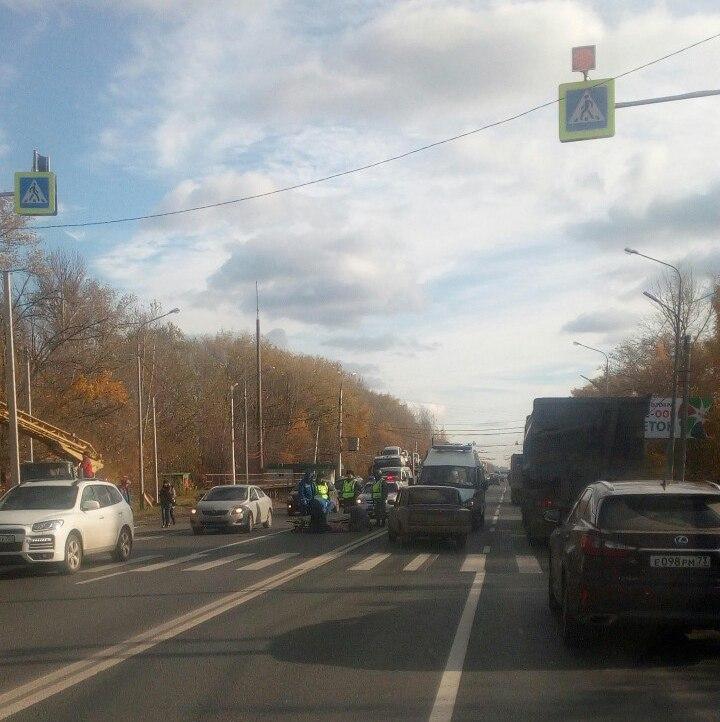 На трассе М5 у поста ДПС в Дягилеве сбили пешехода