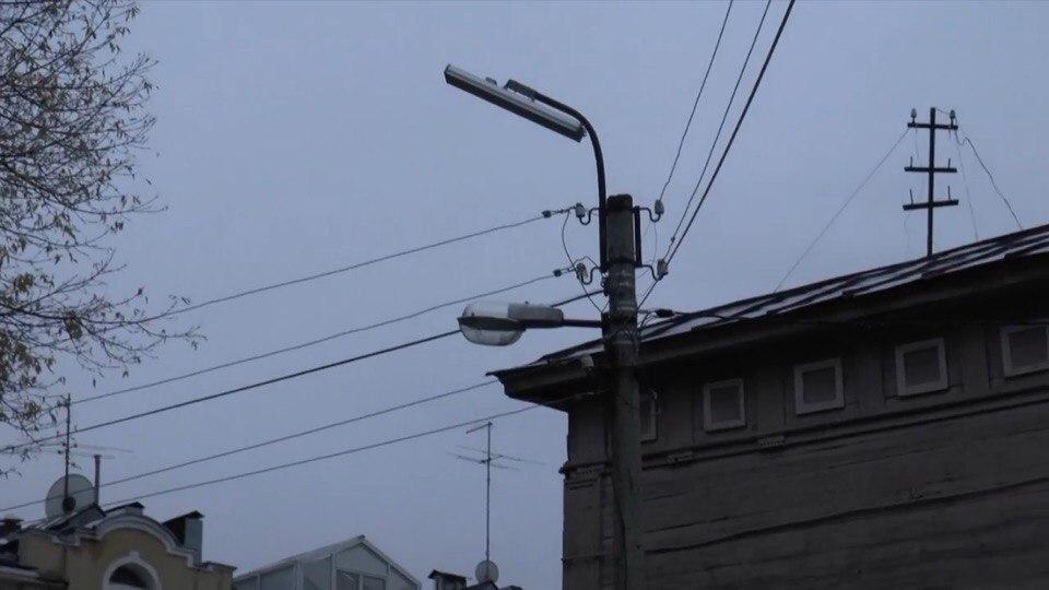 В центре Рязани вернули старые газоразрядные лампы