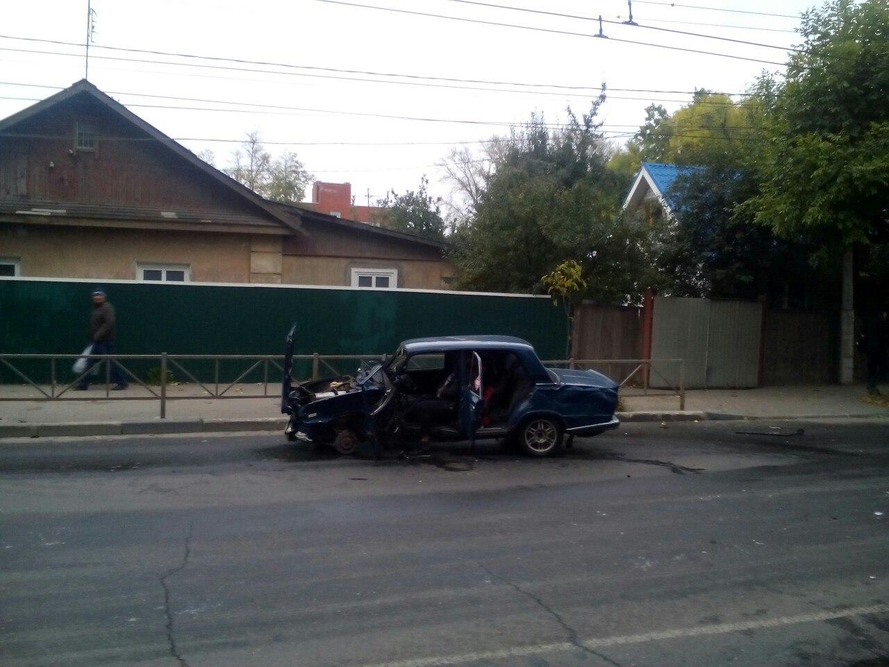 Серьезное ДТП на улице Новой — столкнулись пятнадцатая и Жигули