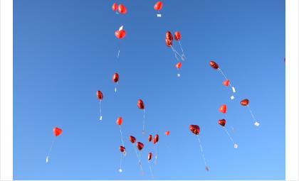 В честь 100-летия Октября в Бердске запустят 100 красных шаров