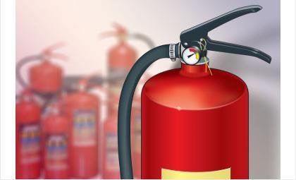 Жителям Бердска рекомендуют иметь дома огнетушитель