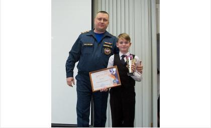Пятиклассник Даниил Найденов спас младшую сестру во время пожара
