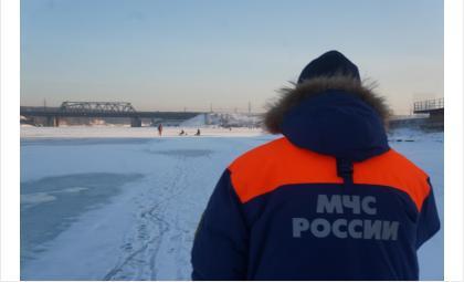 Трое новосибирцев утонули со снегоходом в Болотнинском районе