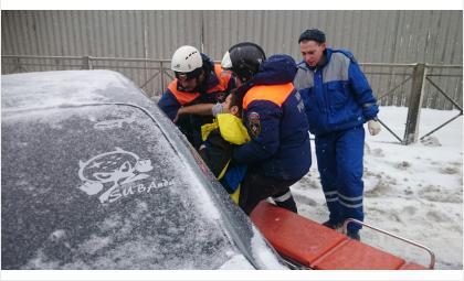 ДТП с пострадавшими: лоб в лоб у вокзала Бердска сошлись «Субару» и «Тойота»