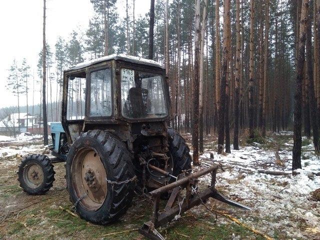 Фото факт: в Рязанском районе вырубили часть леса